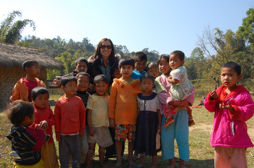 Hanging out in a village in Mynamar.
