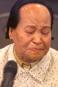 "Wan Ai Hua, the first ""comfort woman"" survivor from China to publicly testify"