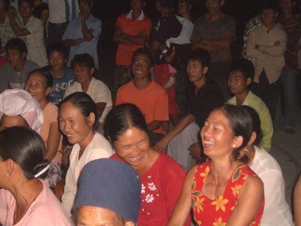 Dai people in a Yunnan province village enjoy the dramas with a HIV prevention message.