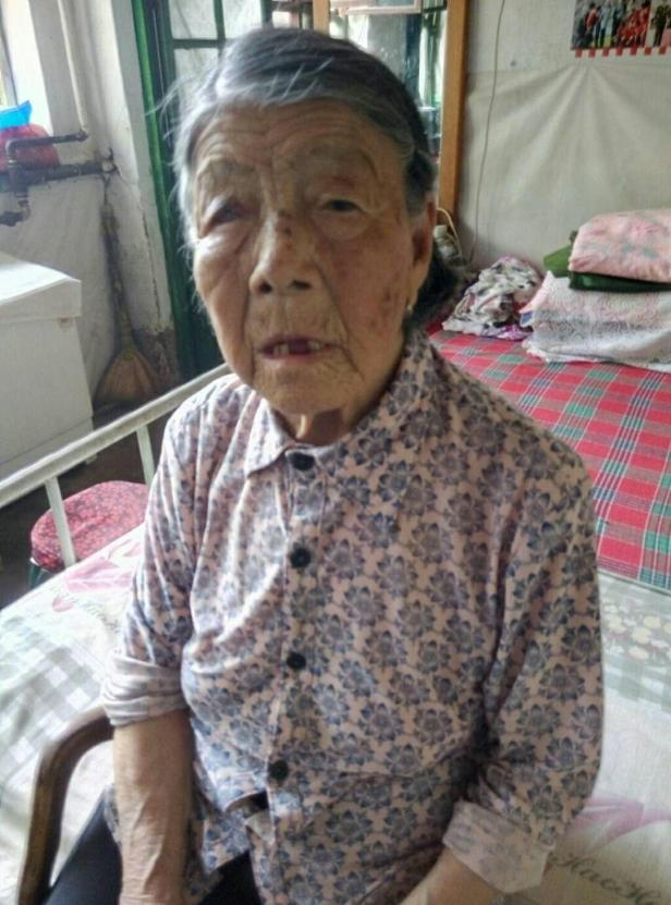 Survivor He Yuelian in her home in Shanxi, China (taken in December 2017 by her daughter Cheng)